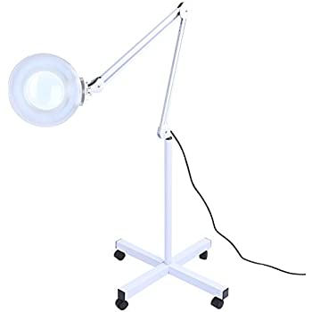 5x magnifier lamp light with rolling floor stand adjustable 5x magnifier lamp light with rolling floor standadjustable swivel arm floor mag light for mozeypictures Choice Image