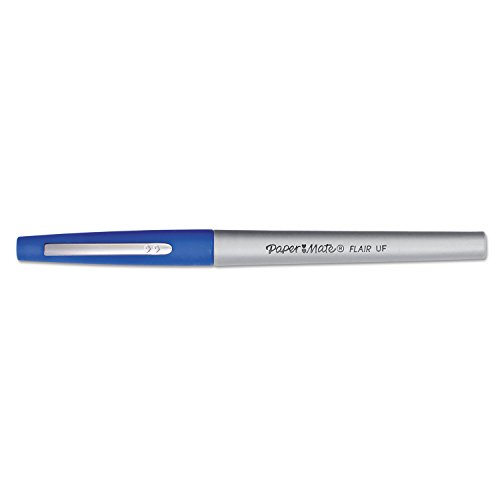 (Paper Mate 8310152 Flair Porous Point Stick Free-Flowing Liquid Pen, Blue Ink, Ultra Fine, Dozen )