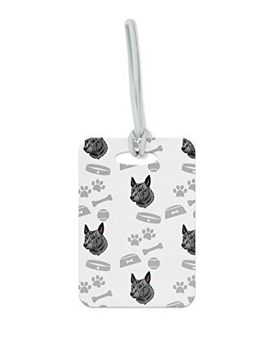 "Price comparison product image Dutch Shepherd Dog Bone Bowl Collar Luggage Tag Finder Brief Case - size 1.75"" x 3.5"""