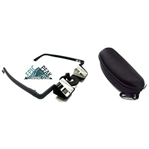 Epic Peak Light Weight Climbing Pro Belaying Glasses Goggles With Epic Peak Decal and Case