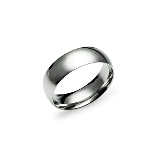 Wedding Band Ring for Men 6mm Stainless Steel Silver Tone Size 11.5 ()