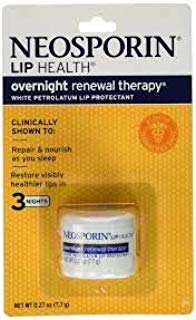 Neosporin Lip Health Overnight Renewal Therapy, 5 Count (The Best Lip Therapy)