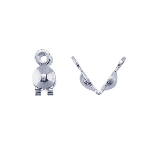 Sterling Silver Double-Cup Bead Tip - Cup Tips Bead Double