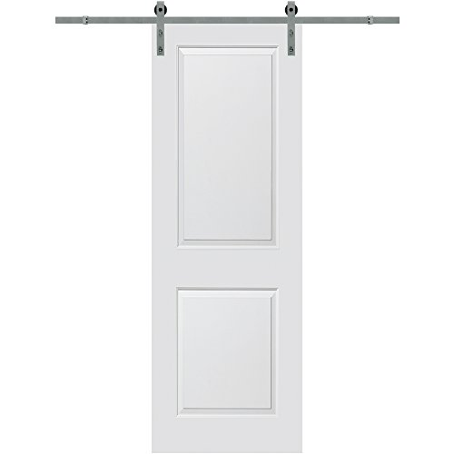 National Door Company Z020078 Solid Core Molded 2-Panel, Primed, 32'' x 96'', Barn Door Unit, 32'' x 96'' by National Door Company