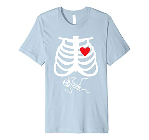 X-Ray Skeleton Pregnant Tshirt - Halloween Mom Costume Gift ()