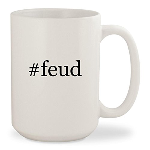 Price comparison product image feud - White Hashtag 15oz Ceramic Coffee Mug Cup