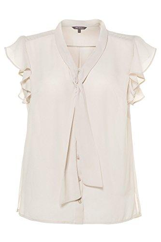 Mousseline Col Femme 716067 Top Popken beige Mode Tailles Gris Blouse Ulla Manches Grandes Longues Femme Chemisier Tunique 4wxqvz