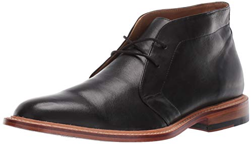 Bostonian Men's No16 Soft Mid Ankle Boot, Black Leather, 100 M US