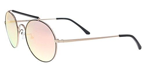 (Sean John SJ859S 780 Rose Gold Round Sunglasses for Men)