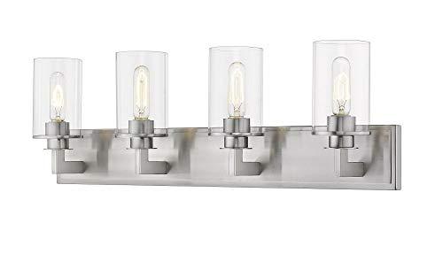 (Z-Lite 462-4V-BN 4 Light Vanity, Brushed Nickel )