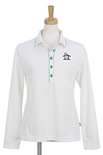 長袖ポロシャツ レディース マンシングウェア Munsingwear 2018 春夏 ゴルフウェア M(M) ホワイト(WH00) mgwljb01