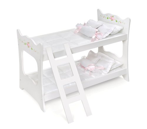 (Badger Basket White Rose Doll Bunk Bed (fits American Girl dolls))