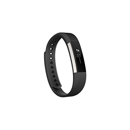 Fitbit Alta Fitness Tracker, Silver/Black, Large (6.7 - 8.1 Inch) (US Version)