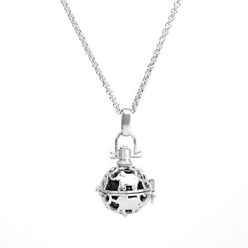 - Cute Elephant Angel Chime Caller Ball Mexican Bola Harmony Musical Ball Pendant Pregnancy Necklace 30