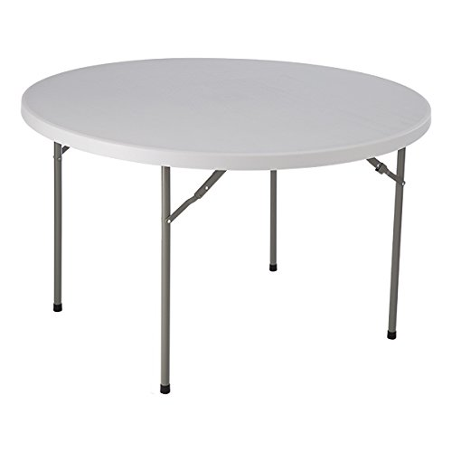 Norwood Commercial Furniture  Round Blow-Molded Plastic Folding Table, 48