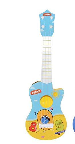 Meiyiu Juguete para ni/ños Guitarra 4 Cuerdas 17 Pulgadas Beb/é Ni/ños Lindo Guitarra Rima Desarrollo Musical Instrumento Juguete Educativo para ni/ños peque/ños Centro marr/ón 44cm