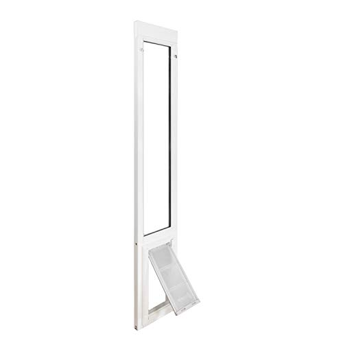 """Endura Flap Vinyl Sliding Glass Dog Door - Large - 77.25"""" - 80.25"""" - White"""