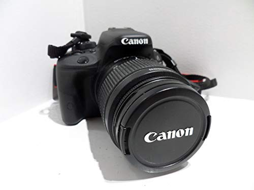 Canon EOS 100D 18MP Digital SLR Camera  Black  with EF S 18 55mm is STM Lens, Memory Card, Camera Case