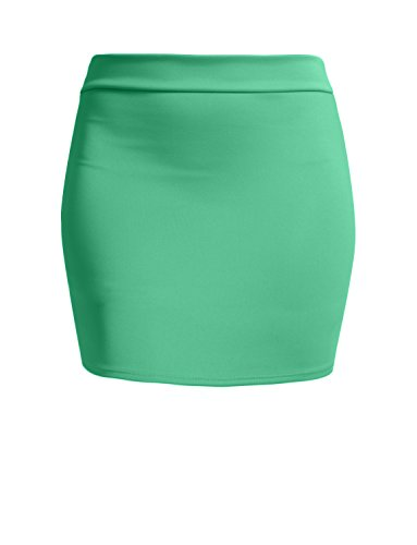 NE PEOPLE Women's Stretch Knit Bodycon Mini Pencil Skirt Made In USA by NE PEOPLE (Image #6)