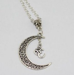 Yoga jewelry silver om necklacemoon necklace crescent moon yoga jewelry silver om necklacemoon necklace crescent moon pendantyoga jewelry silver om necklace aloadofball Images