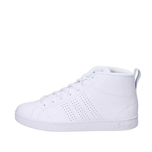 adidas Damen Advantage CL Mid W Fitnessschuhe Weiß (Ftwbla / Ftwbla / Plamet)
