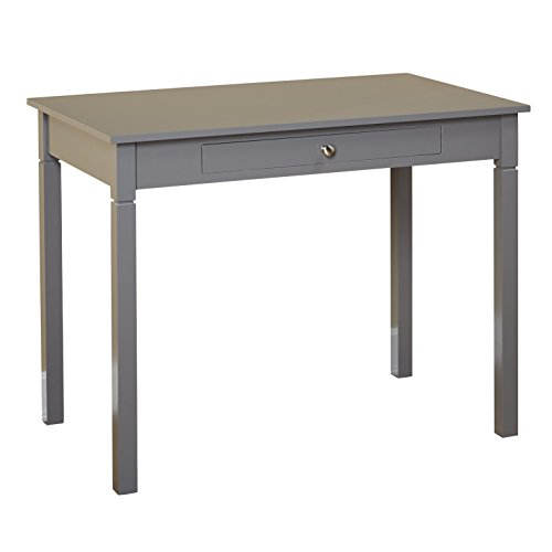Writing Loft Desk Urban (Target Marketing Systems Leo Desk with One Center Drawer, Gray)