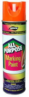 Inverted Nozzle Marking Paint, Case of Twelve 15-oz Cans (Glo Orange)