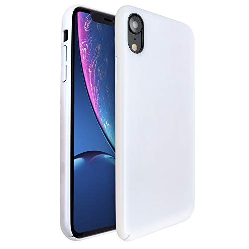 Molzar [Shiny Series] iPhone Xr Case, UV Glossy Finish Grip, Hard Plastic PC with Soft Microfiber Cloth Lining Cushion, Compatible with Apple iPhone Xr, 6.1