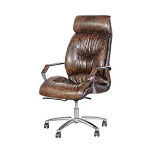 vintage leather office chair. kingswood cannon brown vintage leather office chair - color: e