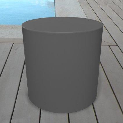 Grandecoracion.com Taburete Modelo Sundara Mesa puf Color Gris Oscuro