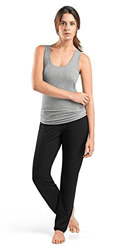 HANRO Women's Yoga Racer Back Tank Top, grit Melange X-Small - Hanro Pajama Top