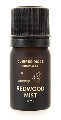 Essential Oil | Steam Distilled From Sustainably Harvested Plants | Pure & Natural | Aromatherapy | Multi Use | Travel Friendly | Redwood Mist | 5 ML