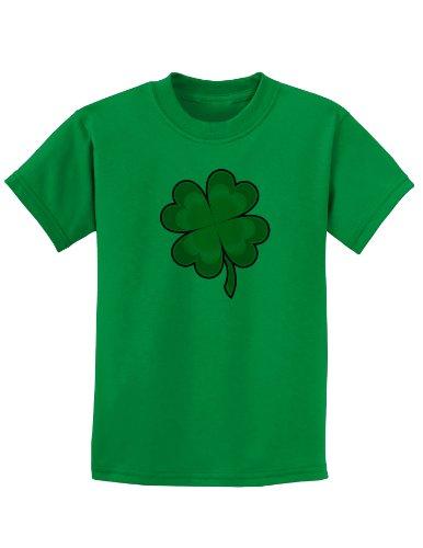 4 Leaf Clover Shamrock Childrens T-Shirt - Kelly Green - -