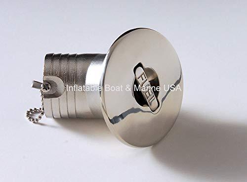 Boat Deck Fill/Filler Cap Keyless - Angled Neck 1 1/2