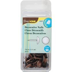 Dritz Bulk Buy Upholstery Decorative Nails 7/16 inch Head 24 Pack Copper (6-Pack)