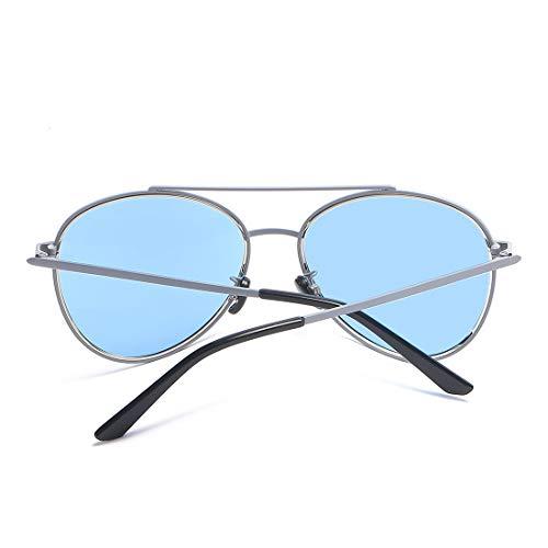 Blue Lens UV400 Lunettes Retro Blue Frame Color Sakuldes Blue Lens Frame Classic de Femmes et Soleil Blue Mirrored Lens Hommes Soleil Lunettes de wxFwBHXn