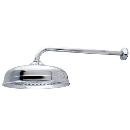Kingston Brass K225K11 Designer Trimscape Victorian 10-inch Showerhead with 17-inch Rain Drop Shower Arm, Polished ()