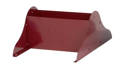 Durham 408-55-A Burgundy Cold Rolled Steel Literature Rack Base, 10-1/8
