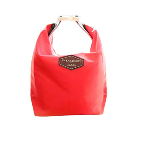 HighlifeS Lunch Bag Waterproof Thermal Fashion Cooler Insulated Lunch Box More Colors Portable Tote Storage Picnic Bags (Red) by HighlifeS (Image #5)