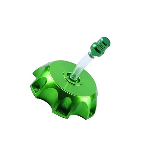 CNC Aluminum Gas Fuel Tank Cap with Breather Valve For 50cc 70cc 90cc 110cc 125cc 140cc 150cc 160cc Pit Dirt Bike Motorized Bicycle (Green) (Dirt Bike Cap Gas)
