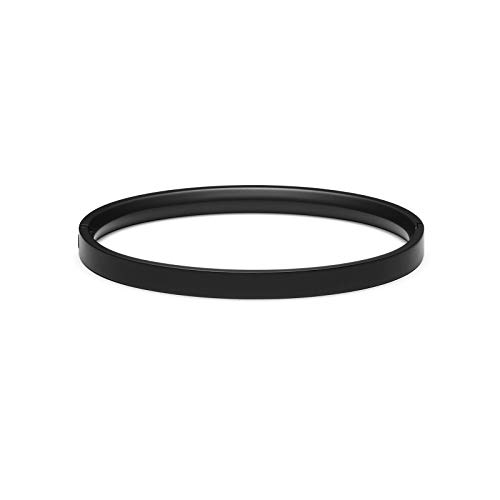 MVMT Women's Ellipse Bangle Bracelet | Clasp Closure, Stainless Steel | Black