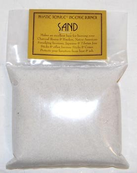 NEW 1lb White Incense Burner Sand (Incense Burners, Charcoal, (White Incense Burners)