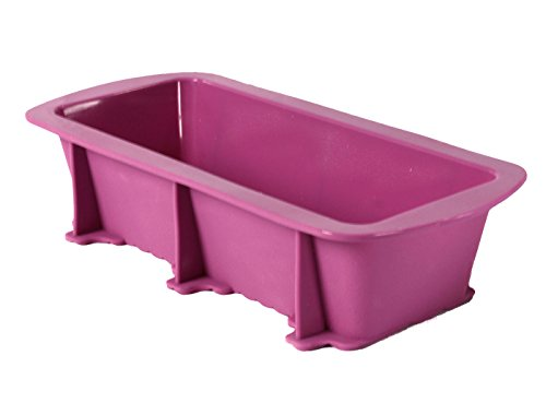 Elbee Home 631 Premium Silicone Loaf Pan for Baking Bread Cake Easy Release in Purple