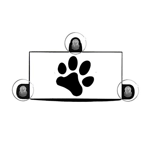 Free Thought Designs EZ Pass and I Pass Holder for New Toll Transponders - Pawprint - 3 Point Mount (1 Pack)