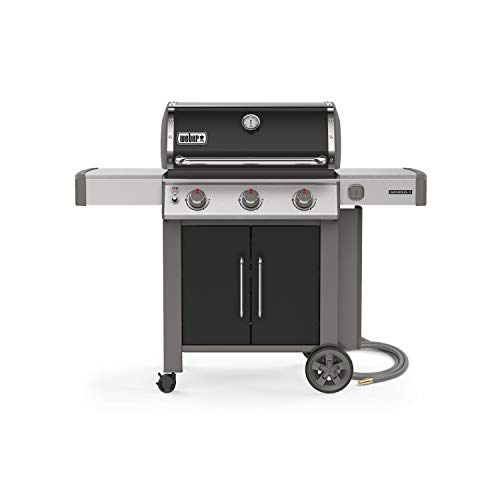 Weber 66015001 Genesis II E-315 3-Burner Natural Gas Grill, Black