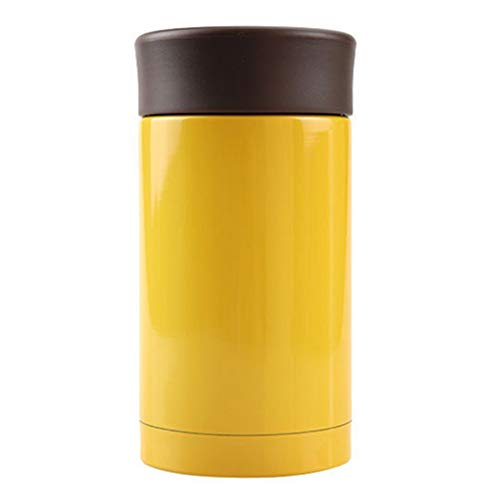 Thermal Coffee Travel Bottle, Mini Tumbler Thermos Mugs, Double-Walled Stainless Steel Vacuum Insulated Cup 8 Ounce / 250ml (Yellow) (Mug Japanese Travel)