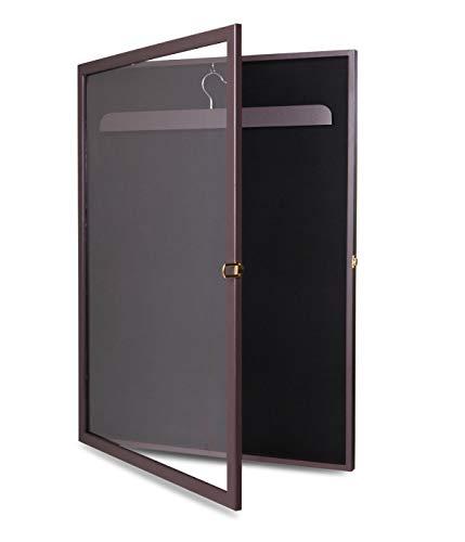 totoshop New Brown Jersey Shadow Box Wall Display Case Rack Frame Lockable Football Baseball