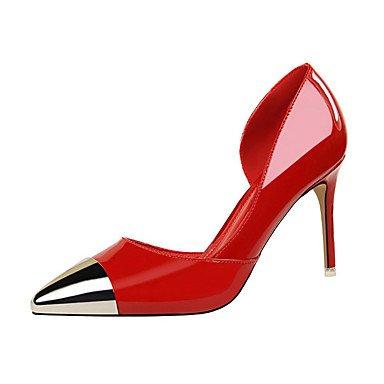 ggx Aiguille Rouge Bout Noir Similicuir 9 black Métallique 7 Eté Gris à Femme Chair cm Talon LvYuan Automne 5 Sandales Argent 5 dzOAdw