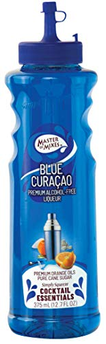 Master of Mixes Cocktail Essentials Blue Curacao, 375 ML Bottle (12.7 Fl Oz), Individually Boxed