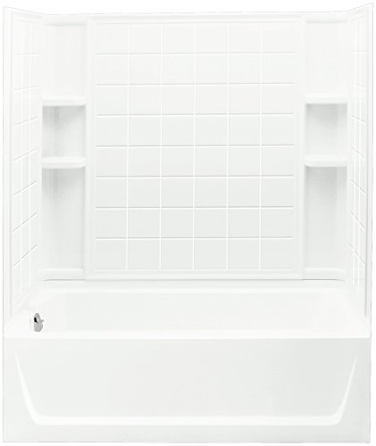 STERLING 71120110-0 Ensemble Bath and Shower Kit, 60-Inch x 32-Inch x 74-Inch, Left-Hand, White
